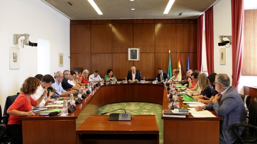 Reunión de la diputación permanente del Parlamento de Andalucía.