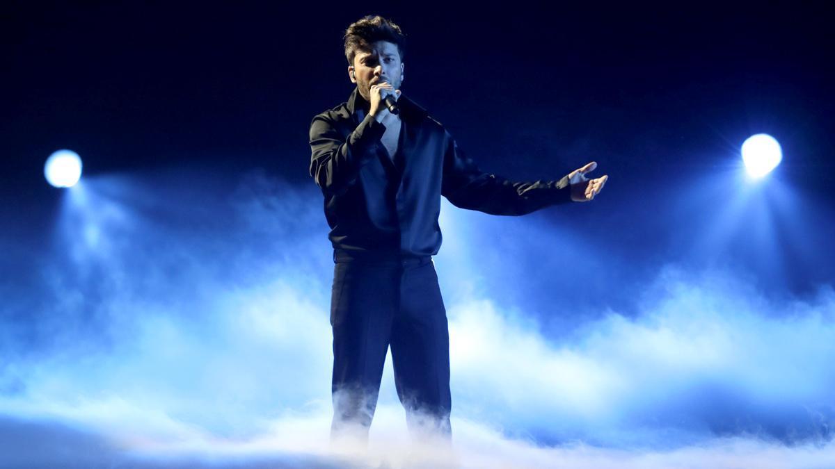Blas Cantó en la final de Eurovisión 2021