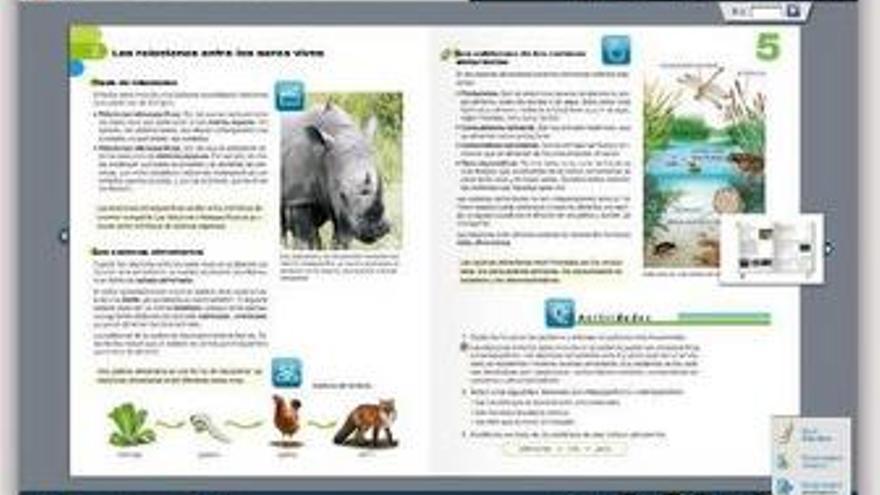 Captura del libro digital de SM.
