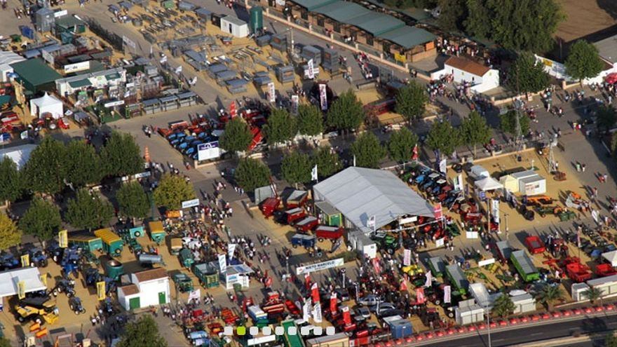 Vista aérea de la Feria Internacional Ganadera (FIG) de Zafra