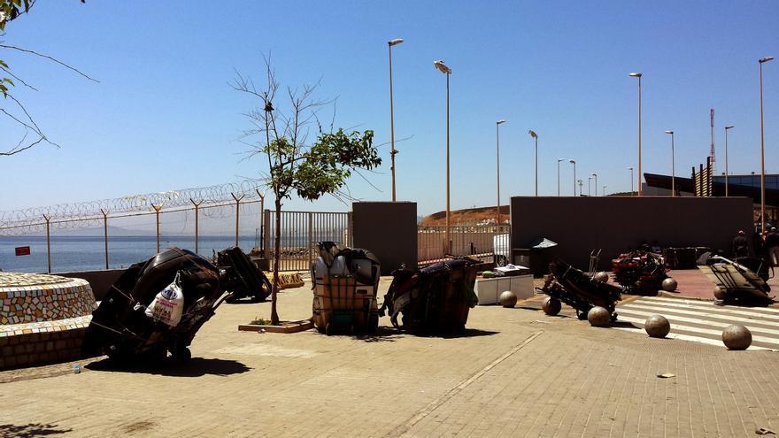 Una imagen de la frontera de El Tarajal // Foto: Miguel Heredia