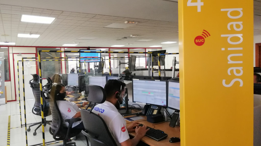 Médicos coordinadores del Servicio de Urgencias Canario (SUC)
