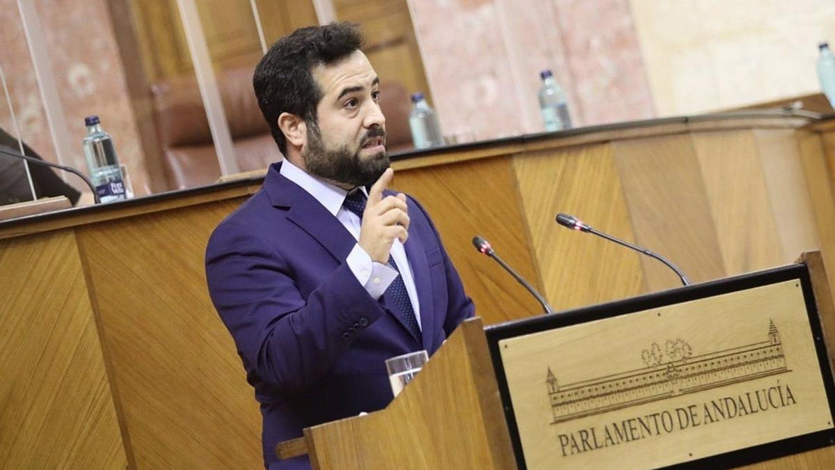 Fran Carrillo en el Parlamento