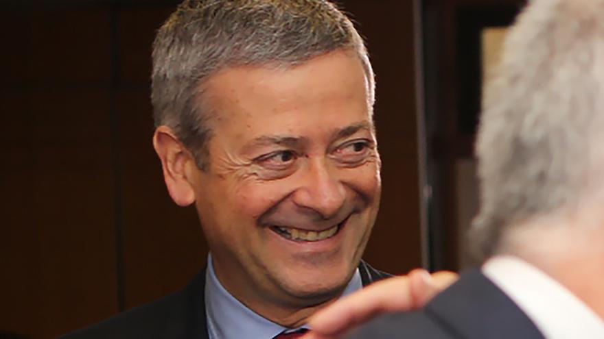 El presidente de la Confederación Canaria de Empresarios, Agustín Manrique de Lara.
