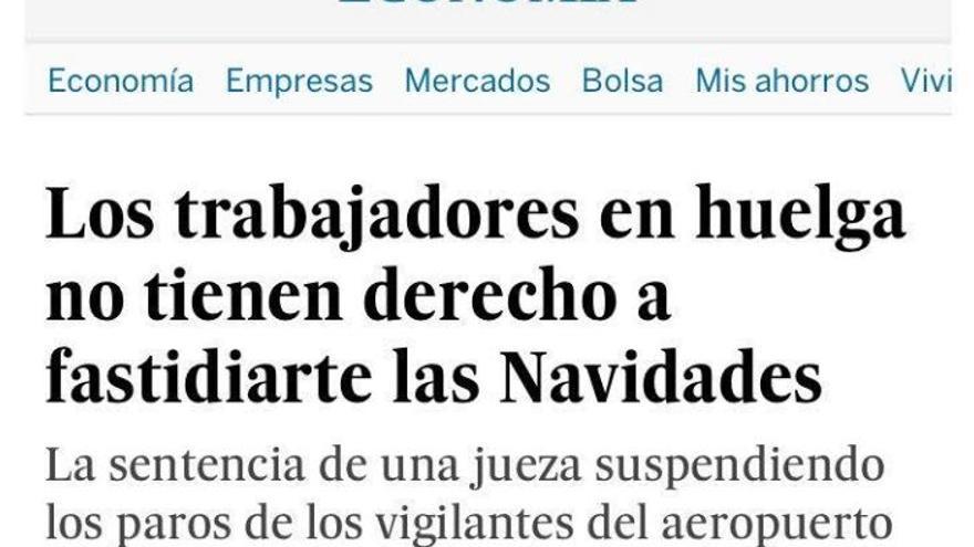 Huelgas navideñas en El País