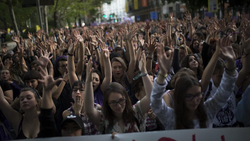 Manifestación en Madrid contra la sentencia de La Manada // AP Photo/Francisco Seco