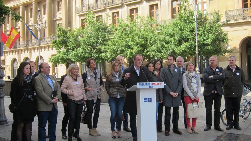 """Javier Esparza dice que el domingo se decidirá entre """"una Navarra liderada por UPN o por el independentismo vasco"""""""