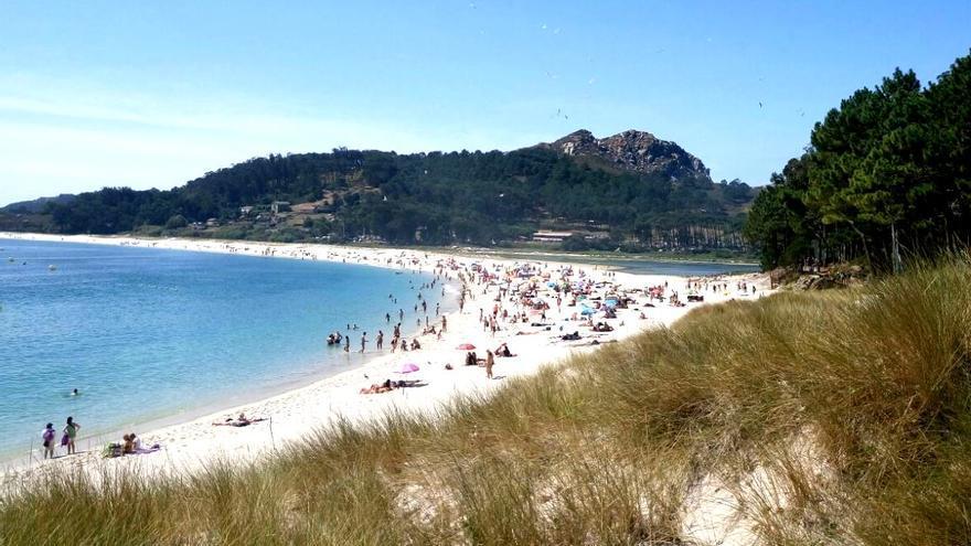 Playa de las islas Cíes, el viernes 18 de agosto