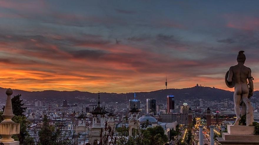 Anochecer en Barcelona