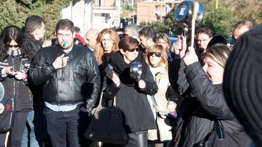 Cacerolada contra la Junta de Castilla-La Mancha, 10/11/14 / Foto: UGT