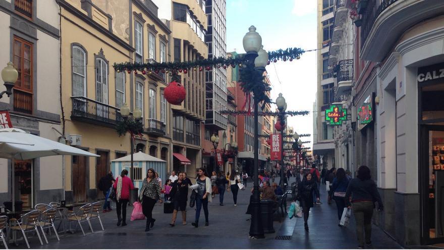 Rebajas en la Calle Mayor de Triana de Las Palmas de Gran Canaria