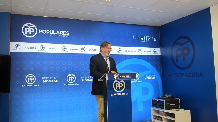 """El PP exige a Vara que """"corte de raíz"""" el """"sueño"""" de una moción de censura en Badajoz para evitar """"consecuencias"""""""