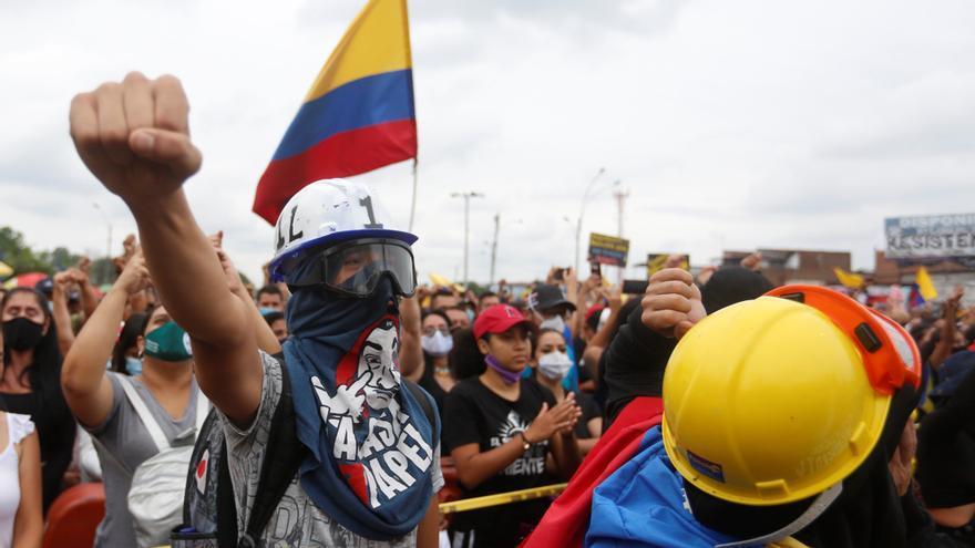 Protestas contra la violencia policia y las políticas del Gobierno de Iván Duque, en Cali (Colombia)