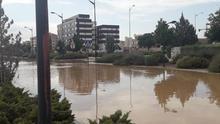 La tormenta provoca inundaciones en varios puntos de Albacete capital