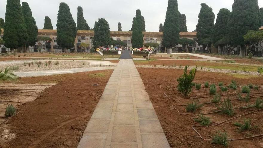 El río seco habilitado en el Cementerio General