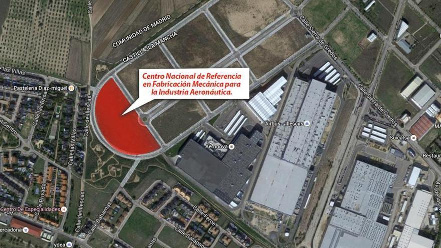Futuro centro formación aeronáutica Illescas