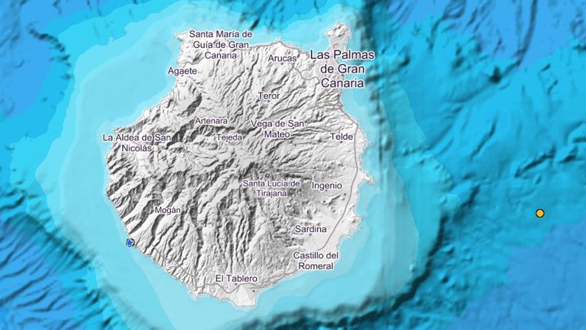 Seísmo detectado en la costa de Mogán, en el suroeste de Gran Canaria