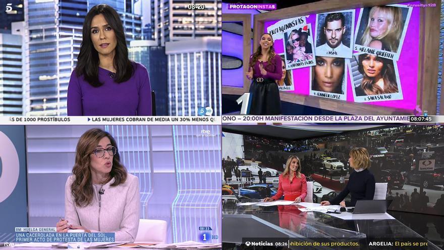 Así se está reflejando en TV el 8M, Día Internacional de la Mujer