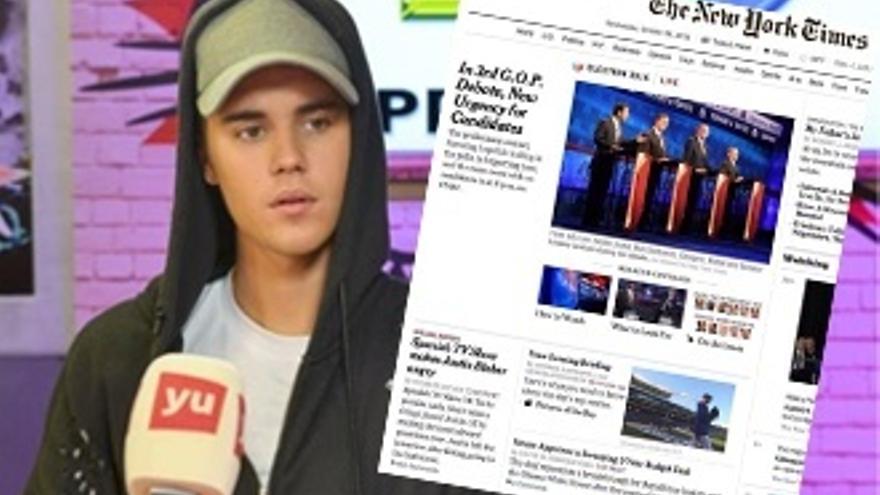 The New York Times recoge el enfado de Bieber en España, con error incluido