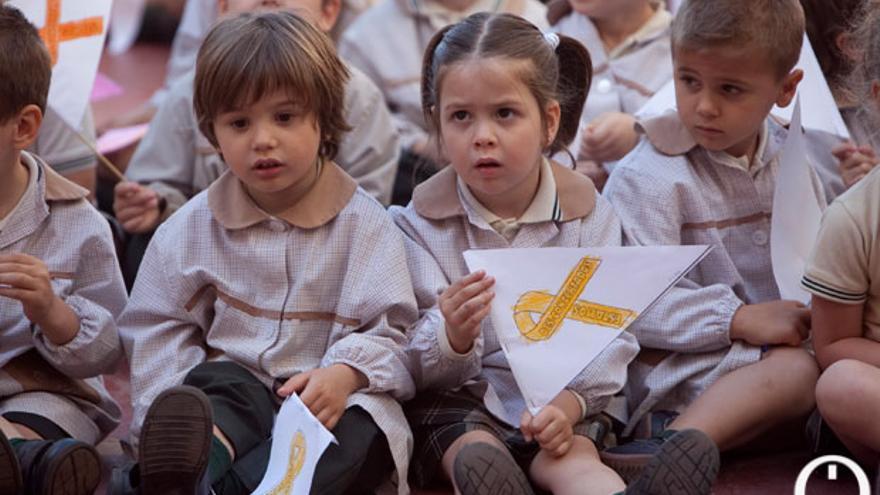 Niños de tres años en un colegio de Córdoba. | MADERO CUBERO
