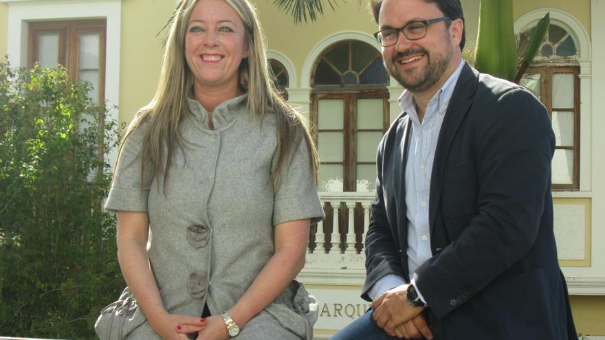 Da Haro y Antona tras el desayuno de trabajo con los medios. Foto: LUZ RODRÍGUEZ.