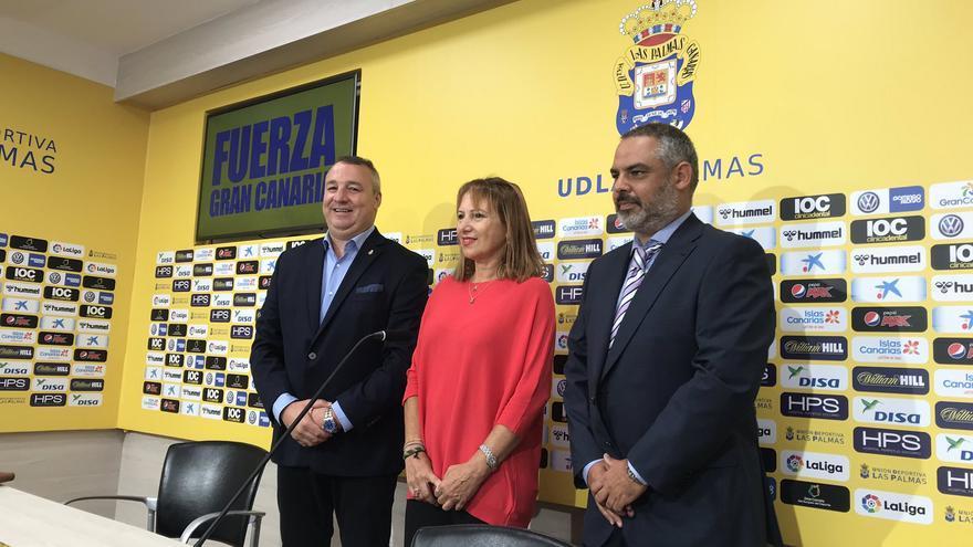 Imagen de la rueda de prensa ofrecida este jueves por la UD Las Palmas.