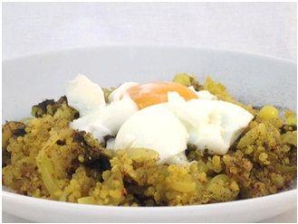 quinoa con nori y huevo