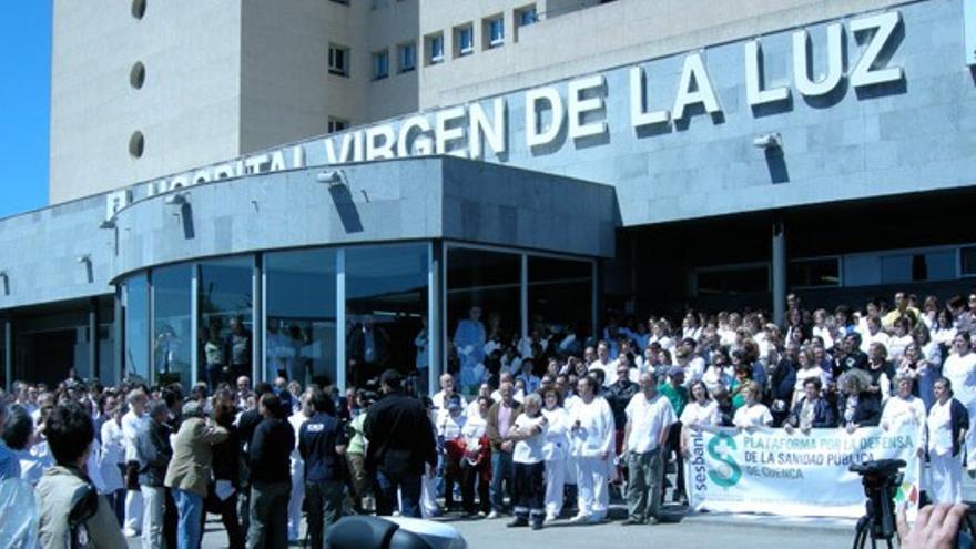 Concentración Hospital 'Virgen de la Luz', Cuenca / Foto: Plataforma en Defensa de la Sanidad Pública