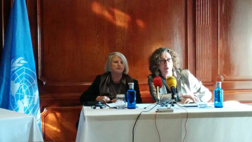 Frances Raday (dcha) y Eleanora Zielinska, expertas del Grupo de Trabajo de la ONU sobre la discriminación contra la mujer. / L.O.