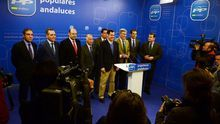 Juan Manuel Moreno con los presidentes provinciales.