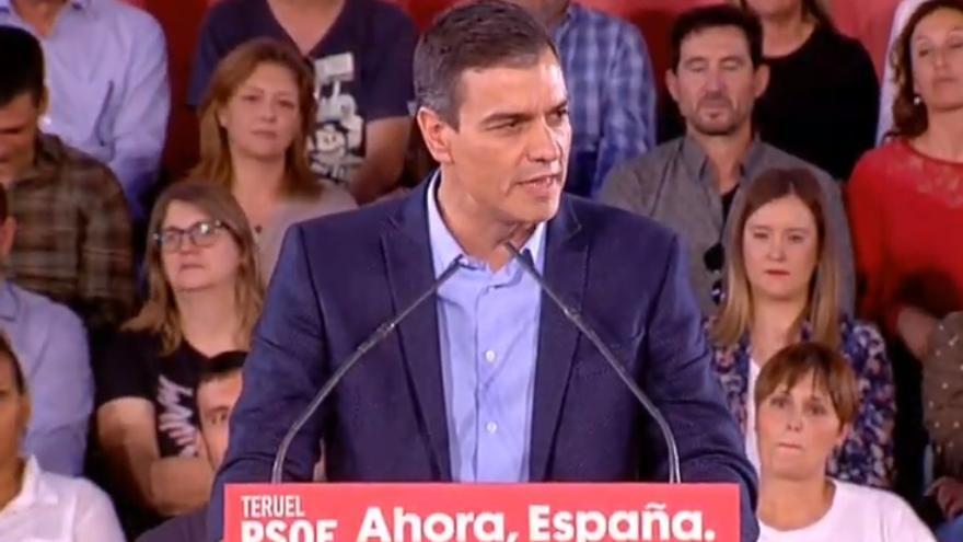 Pedro Sánchez, en Teruel