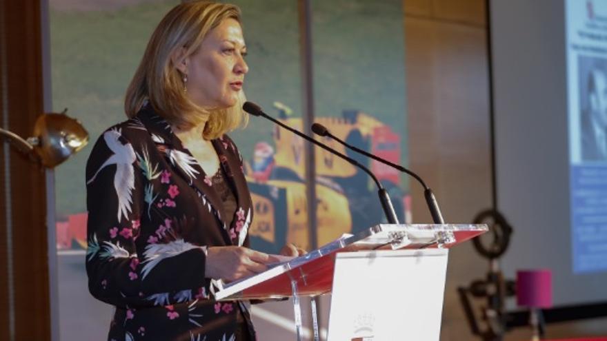 La candidata del Partido Popular al Ayuntamiento de Valladolid, Pilar del Olmo.