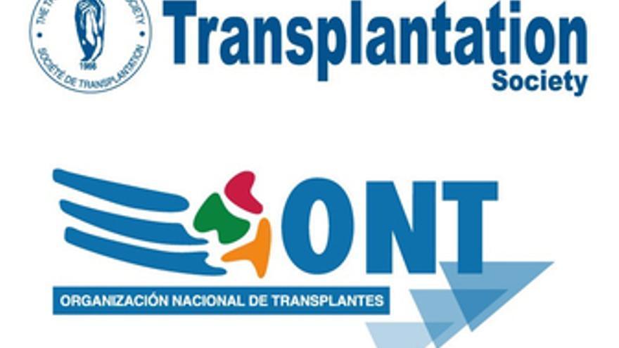 Logotipo de la ONT y de Transplantation Society