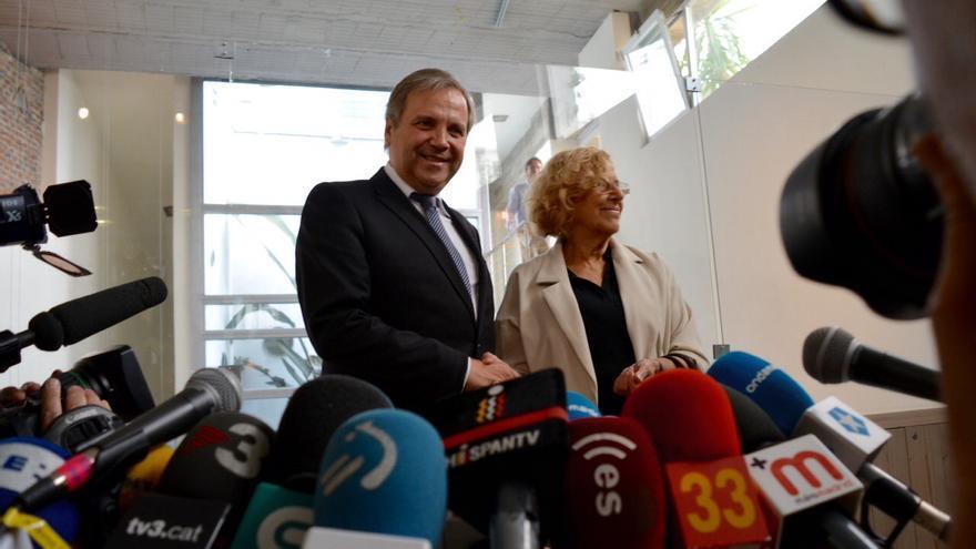 Antonio Miguel Carmona y Manuela Carmena en la rueda de prensa / Foto: Agustín Millán