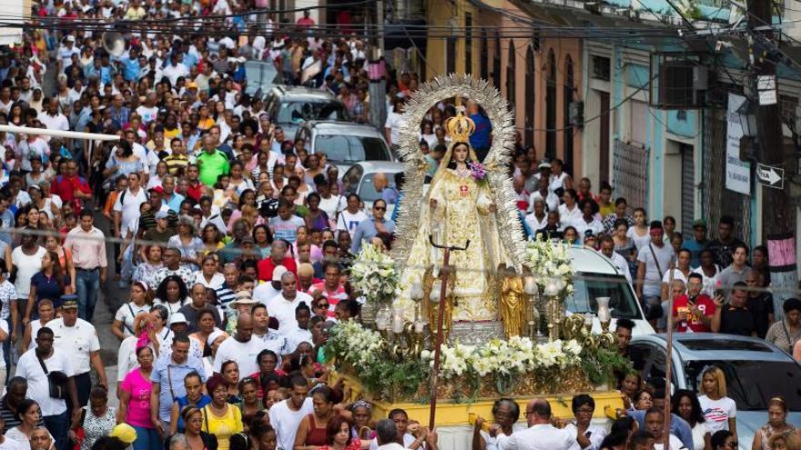 Los dominicanos veneraron a la Virgen de las Mercedes, la patrona del país