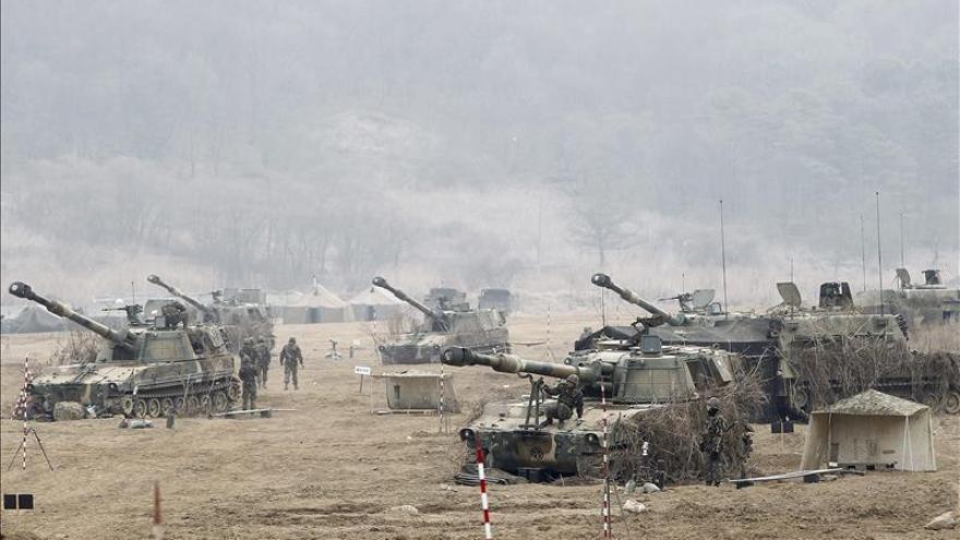Corea del Sur y EE.UU. iniciarán ejercicios militares a gran escala en marzo