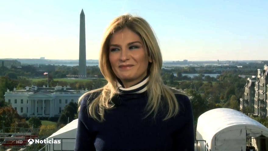 Sandra Golpe en Antena 3 Noticias 1 desde Washington