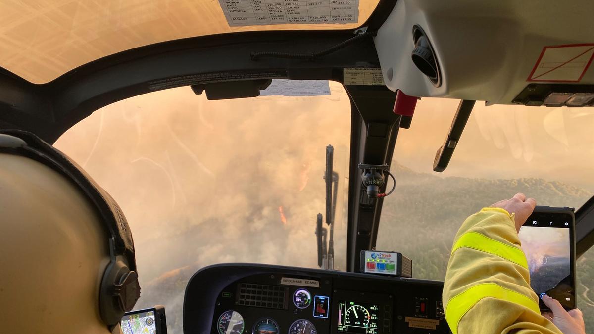 51 aeronaves trabajan en las labores de extinción del incendio forestal de Sierra Bermeja