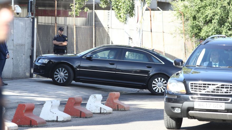 Rajoy llega a la Audiencia Nacional a las 9.47 horas en coche para declarar como testigo