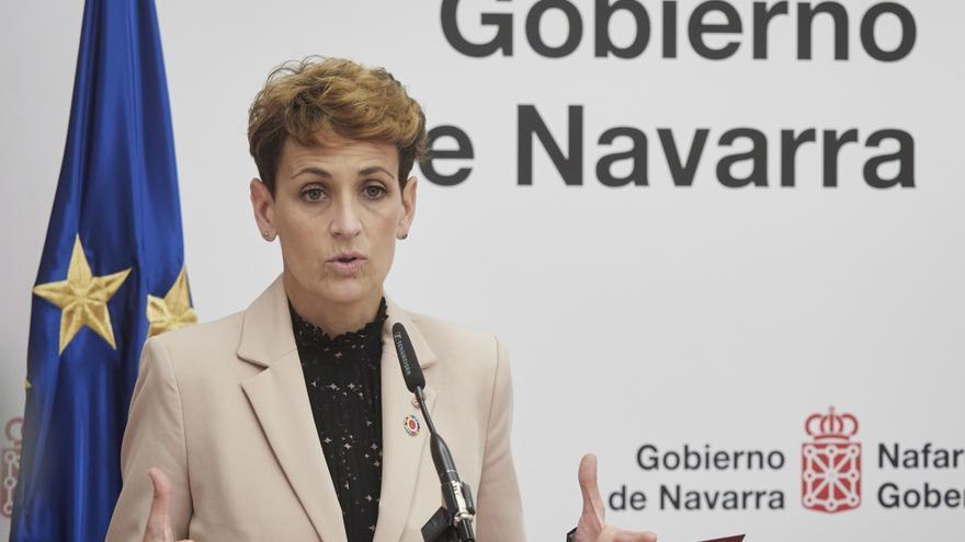 Archivo - La presidenta del Gobierno de Navarra, María Chivite