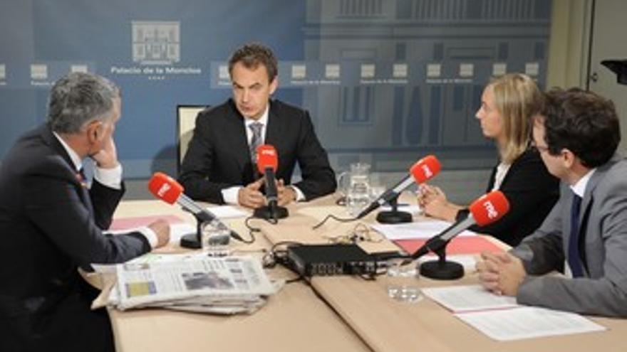 Entrevista de RNE a Zapatero en Moncloa