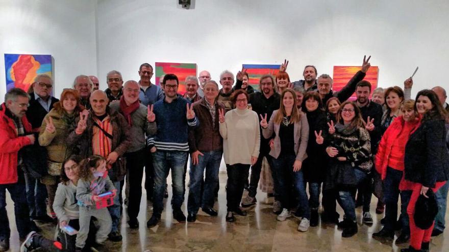 Algunos de los participantes en una de las asambleas celebradas por Podemos en Valencia