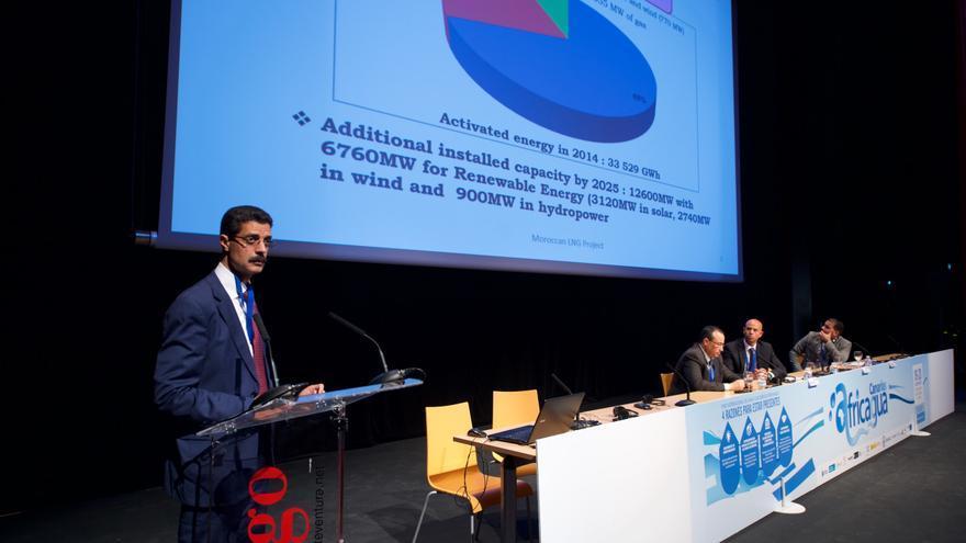 El cónsul marroquí en Canarias, Ahmed Moussa, en su intervención Afriqua 2015