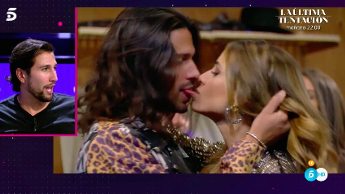 Luca y Cristina dándose un beso de película