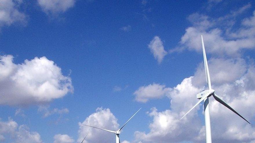 Vista de un parque de energía eólica
