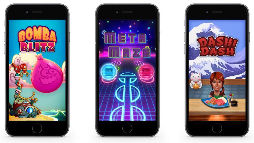 Tres de los juegos que ofrece la empresa Knack