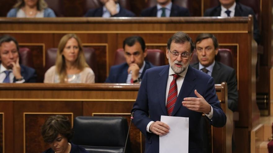 Rajoy responderá mañana en el Congreso a preguntas de ERC y PNV sobre el referéndum
