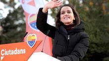 Arrimadas, durante un acto de su partido en Catalunya.
