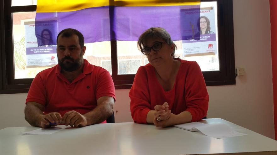 Besay Rodríguez y Paloma López en rueda de prensa. Foto: LUZ RODRÍGUEZ.