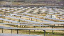 Vista de un parque solar fotovoltáico.